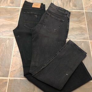 Bundle of 2 men's slim black and grey jeans